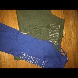 Two Pairs Victoria's Secret Jogging Pants